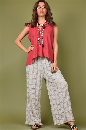 LACED LOOSE TROTTERS PANTS